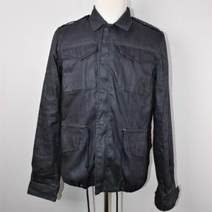 Unis Waxed Cotton Field Jacket Charcoal Size 40